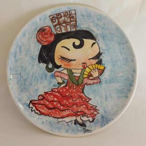platos cerámica pintados a mano